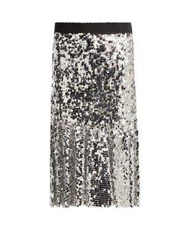 paillette-embellished-midi-skirt by dolce-&-gabbana