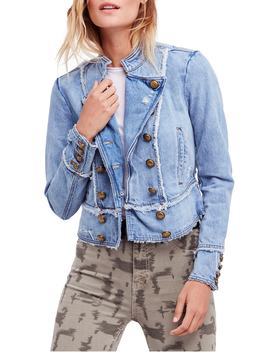 ferry-cotton-denim-jacket by free-people