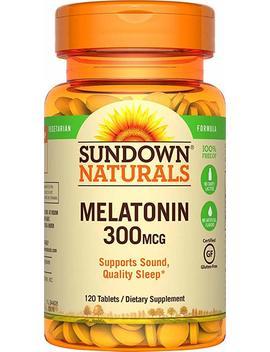 sundown-naturals-melatonin-300-mcg,-120-tablets by amazon