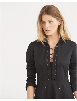 lace-up-cotton-shirtdress by ralph-lauren