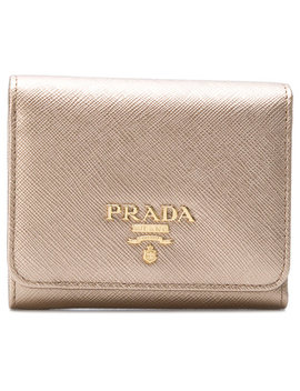 metallic-flap-mini-wallet by prada