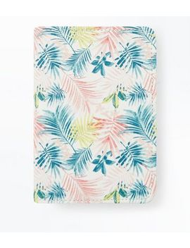 black-tropical-floral-print-passport-holder by new-look