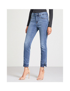 good-legs-crop-slit-high-rise-straight-jeans by good-american