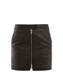 textured-leather-mini-skirt by givenchy