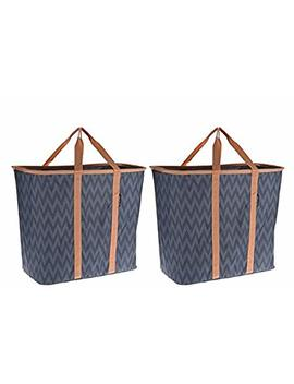 clevermade-snapbasket-laundrycaddy-pop-up-hamper:-collapsible-laundry-basket_tote-bag,-2-pack-(pack-of-2,-purple) by clevermade