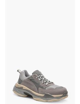 baskets-épaisses-à-blocs-de-couleur by boohoo