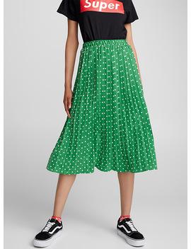 polka-dot-pleated-skirt by twikvans-x-lazy-oafvans