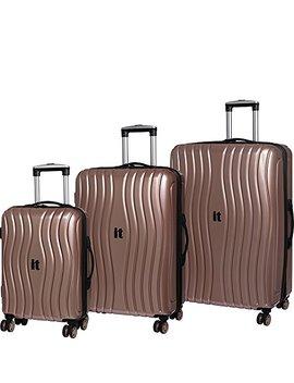 it-luggage-doppler-hardside-8-wheel-3-piece-set---ebags-exclusive-(metallic-rose by it-luggage