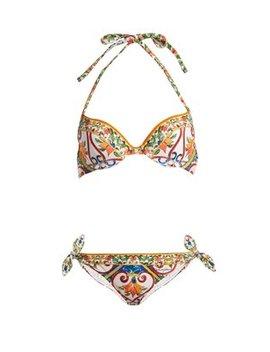 majolica-print-balconette-bikini by dolce-&-gabbana