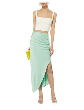 double-wool-white-bustier-top by dion-lee