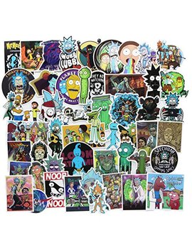 50-pcs-rick-and-morty-laptop-stickers-waterproof-skateboard-pad-macbook-car-snowboard-bicycle-luggage-decor-(2) by r&m