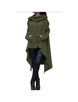 Women Hoodie Dress Long Hooded Tops Casual Sweatshirt Sweater Asymmetric Hoodies by Unbranded