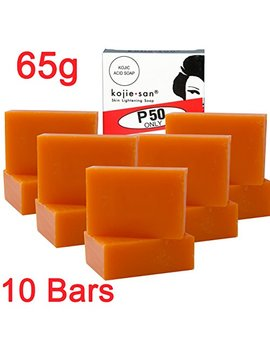 kojie-san-face-&-body-soap---5-pack-of-kojie-san-skin-lightening-kojic-acid-soap-(-2-bars-per-pack)-65g---super-savings by kojie-san