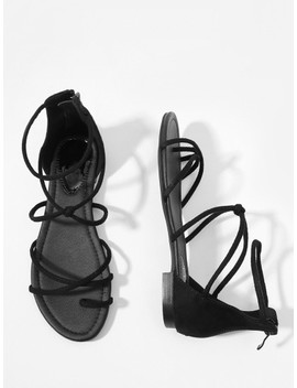 toe-ring-strappy-suede-flat-sandals by sheinside