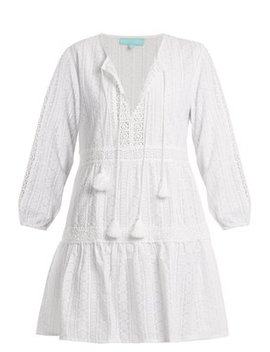 reid-v-neck-embroidered-cotton-dress by melissa-odabash