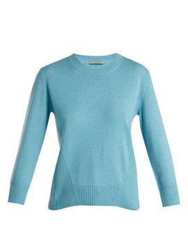 ribbed-crew-neck-cashmere-sweater by bottega-veneta