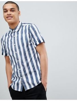 esprit-slim-fit-short-sleeve-stripe-shirt by esprit