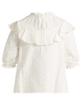 broderie-anglaise-cotton-top by see-by-chloé