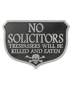 eating-solicitors-sign---10x7---raised-stainless-steel-metal-coated-plaque by atlas-signs-and-plaques