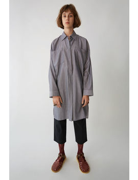 Oversized Shirtdress White Pinstripe by Acne Studios
