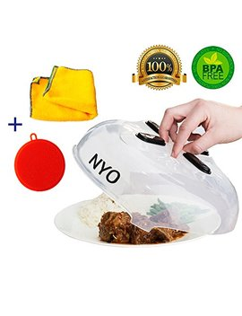 microwave-plate-cover-,-special-kitchen-set-of-3---magnetic-microwave-splatter-guard-and-2-bonuses---better-sponge-+-kitchen-towel-with-free-shipping by nyo-kitchen