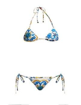 majolica-print-bikini by dolce-&-gabbana