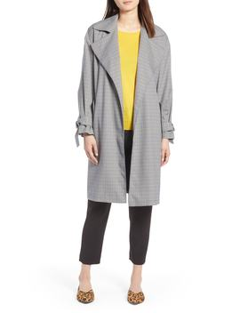 lightweight-plaid-trench-coat by halogen®