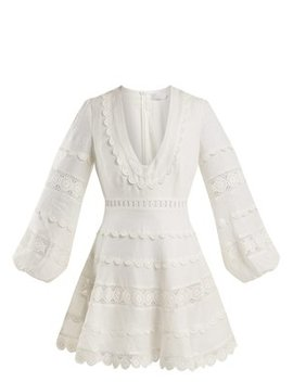 castile-crochet-trimmed-linen-dress by zimmermann