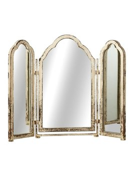 distressed-white-triple-arch-mirror by zulily