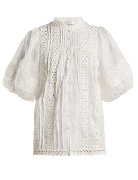 castile-embroidered-balloon-sleeve-blouse by zimmermann