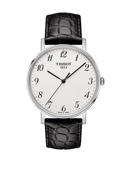 unisex-quartz-everytime-embossed-leather-watch by tissot