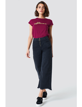 front-zip-culotte-jeans by trendyol