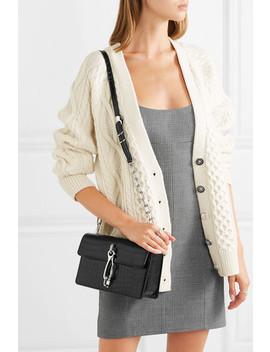 hook-croc-effect-leather-shoulder-bag by alexander-wang
