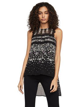 Briar Lace Trimmed Top by Bcbgmaxazria