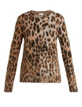 leopard-print-mohair-blend-sweater by saint-laurent