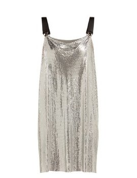 metal-mesh-cowl-neck-mini-dress by paco-rabanne