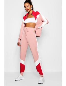tall-sports-bomber+-jogger-loungeset by boohoo