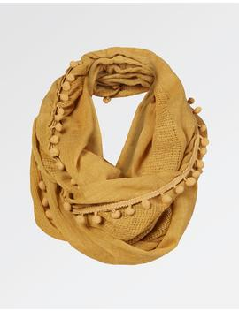 Pompom Edge Plain Snood by Fat Face