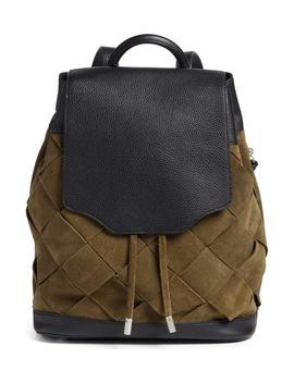 pilot-suede-&-leather-backpack by rag-&-bone
