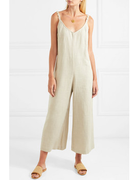 phoenix-shell-embellished-linen-blend-jumpsuit by staud