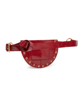 kriss-eyelet-embellished-patent-textured-leather-belt-bag by see-by-chloé