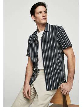 regular-fit-bowling-striped-shirt by mango
