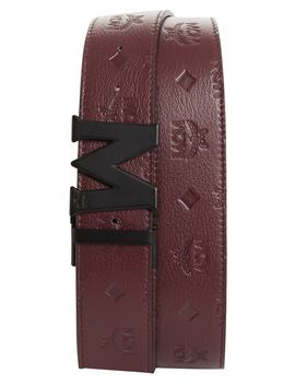 monogram-leather-belt by mcm