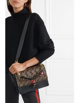 kan-i-embossed-leather-shoulder-bag by fendi