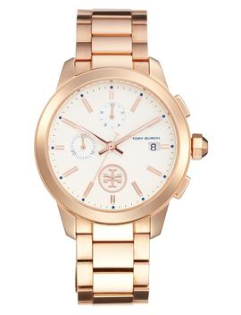 collins-chronograph-bracelet-watch,-42mm by tory-burch