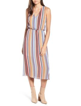 sleeveless-blouson-midi-dress by wayf