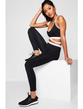 fit-stripe-detail-running-legging by boohoo
