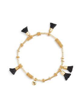 raffia-tassel-bracelet by madewell