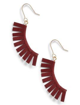 suede-fringe-earrings by panacea