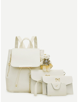 bear-decor-combination-bag-4pcs by sheinside